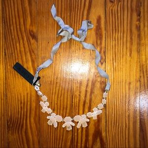 NWT J. Crew ribbon tie necklace.